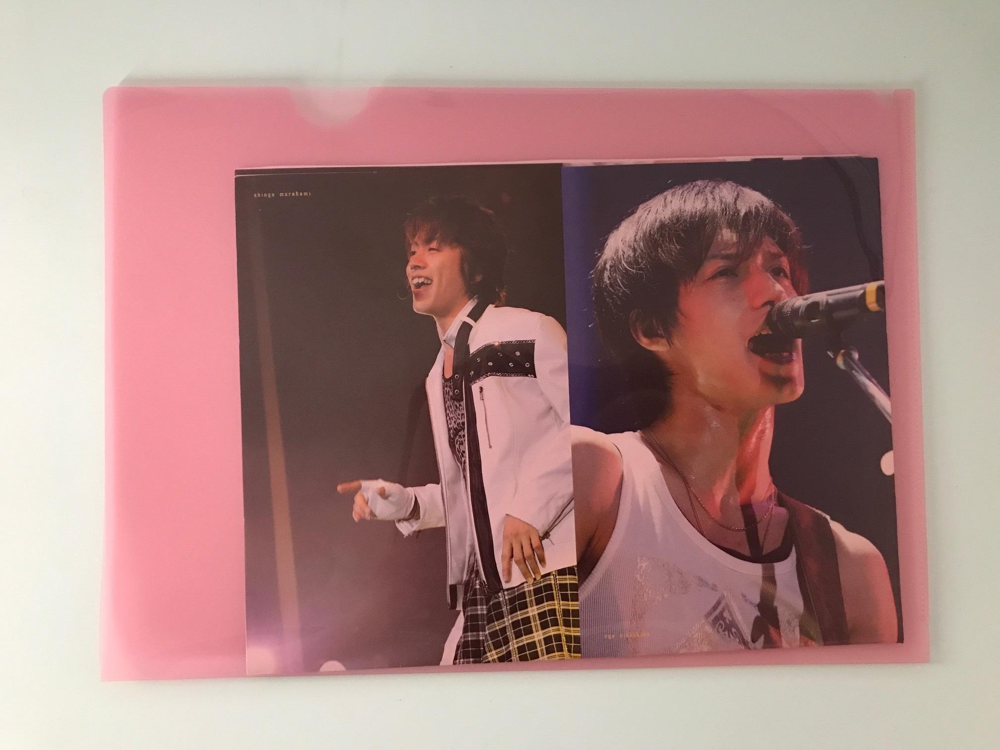 関ジャニのミニポスターをクリアファイルに入れた写真